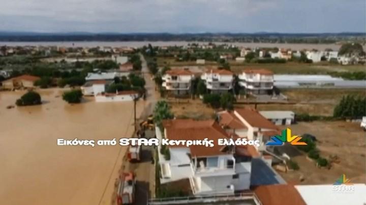 Εύβοια - θεομηνία - Πλάνα από drone δείχνουν την καταστροφή