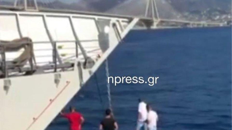Αντίρριο - Παρασύρθηκε από ρεύματα και τον έσωσε το ferry boat