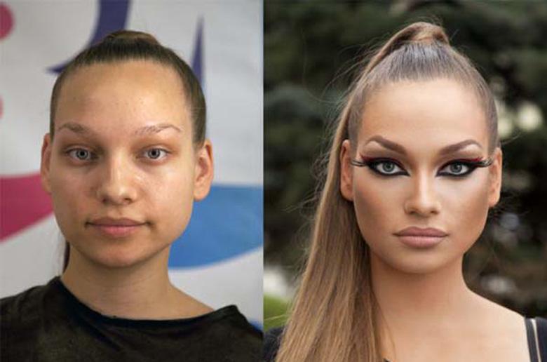 Γυναίκες με και χωρίς μακιγιάζ!