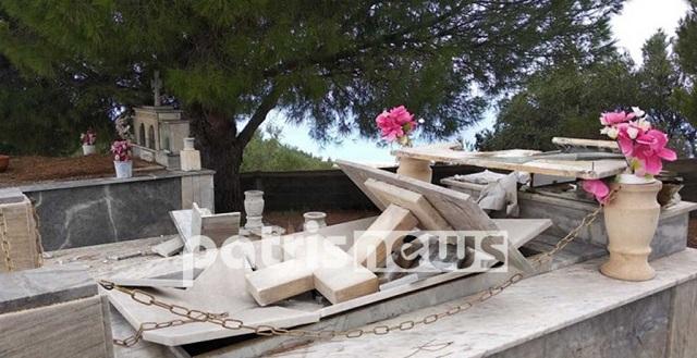 Απίστευτη κακοκαιρία στην Ηλεία – «Άνοιξαν» οι τάφοι [εικόνες-βίντεο]