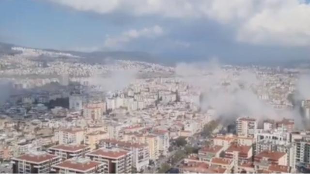 Βίντεο του σεισμού στη Σάμο από την Τουρκία: Καταστροφές στη Σμύρνη