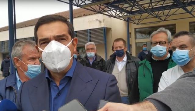 Αλ. Τσίπρας από Λάρισα: Να ανοίξουν ιδιωτικά νοσηλευτήρια και Στρατιωτικό Νοσοκομείο για περιστατικά κορονοϊού