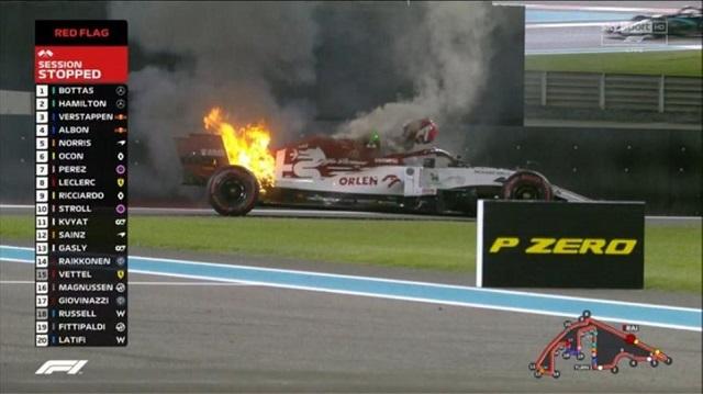 Νέο τρομακτικό ατύχημα στην F1: Στις φλόγες τυλίχθηκε το μονοθέσιο του Κίμι Ραϊκόνεν [βίντεο-εικόνες]