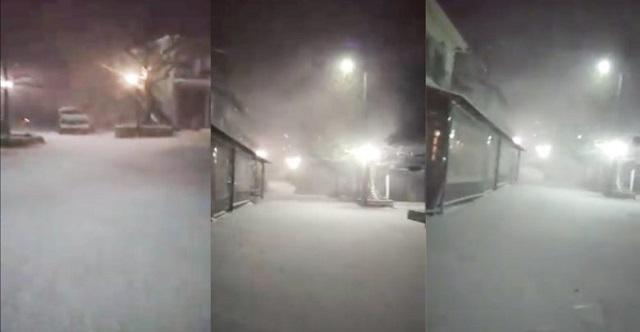 Ντύθηκε στα λευκά ο Κίσσαβος –Βίντεο από τη Σπηλιά