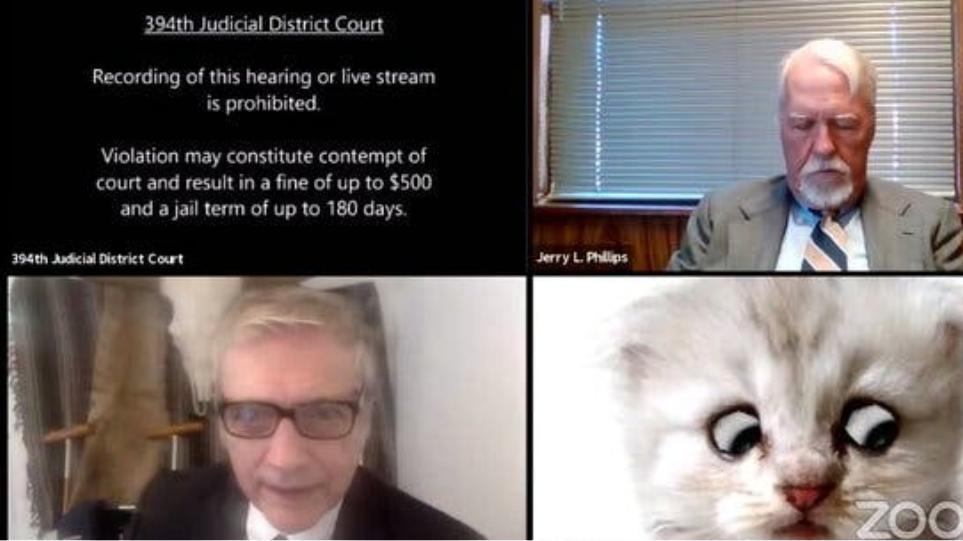 Δικηγόρος σε κλήση zoom με δικαστή «παγιδεύεται» σε φίλτρο - «Δεν είμαι γάτα!»