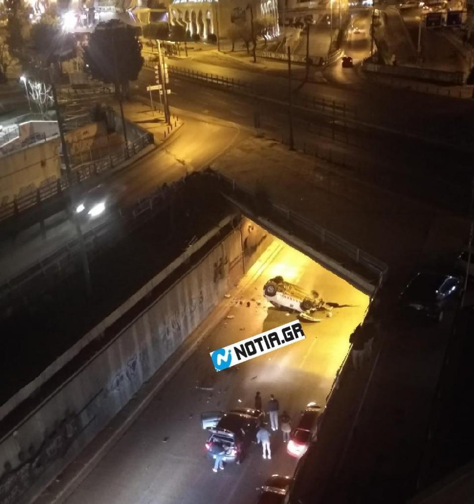 Έπεσε με το αυτοκίνητο από γέφυρα στη Συγγρού & πήγε στο σπίτι του χωρίς γρατζουνιά!