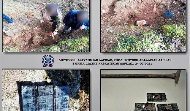 35χρονος έκρυβε σε χωράφι στη Λάρισα με 1,5 κιλό ηρωίνη!
