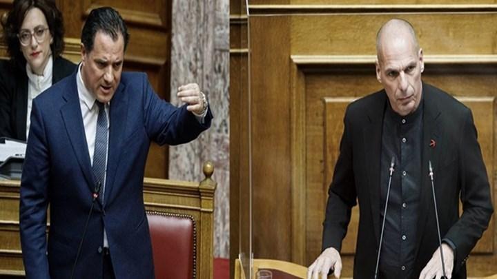 Άγρια κόντρα Βαρουφάκη - Γεωργιάδη στη Βουλή