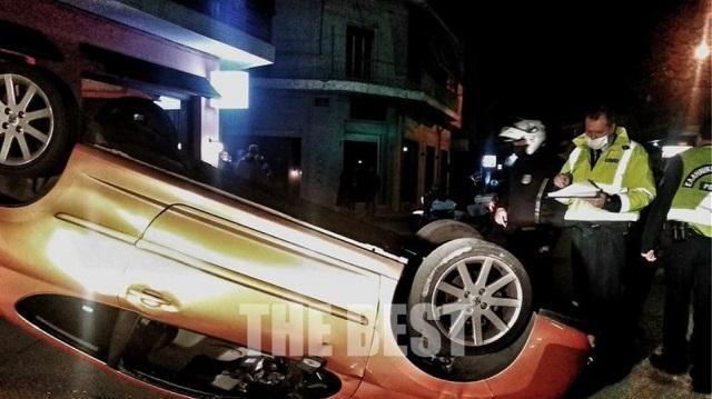 Ανατροπή αυτοκινήτου στην Πάτρα: Παιδάκι προσπάθησε να ανοίξει την πόρτα εν κινήσει