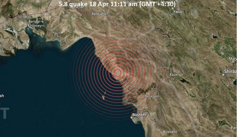 Ιράν : Σεισμός 5,9 βαθμών έπληξε το νότιο Ιράν