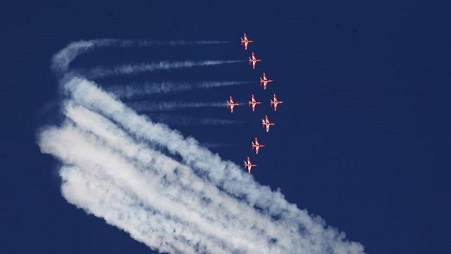 Στην Τανάγρα τα «κόκκινα βέλη» της βασιλικής βρετανικής αεροπορίας