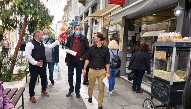 Περιοδεία του ΣΥΡΙΖΑ-ΠΣ Μαγνησίας στο κέντρο του Βόλου