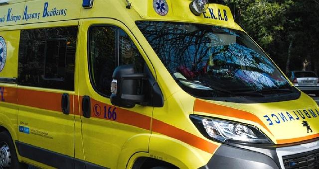 Τραυματισμός δικυκλιστή σε τροχαίο στη 2ας Νοεμβρίου στον Βόλο