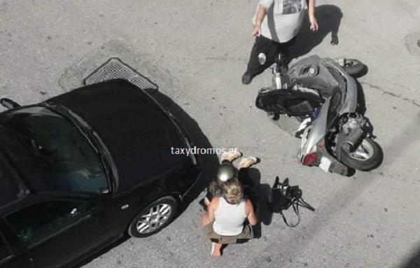 Τραυματισμός νεαρής οδηγού δικύκλου στην Κ. Καρτάλη