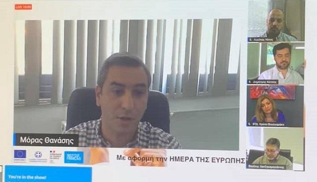 Παρουσίαση των Ευρωπαϊκών Προγραμμάτων της Περιφέρειας στο Εurope Direct από τον Θανάση Μόρα