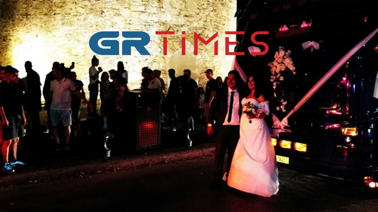 Θεσσαλονίκη: Γαμήλιο γλέντι με νταλίκες