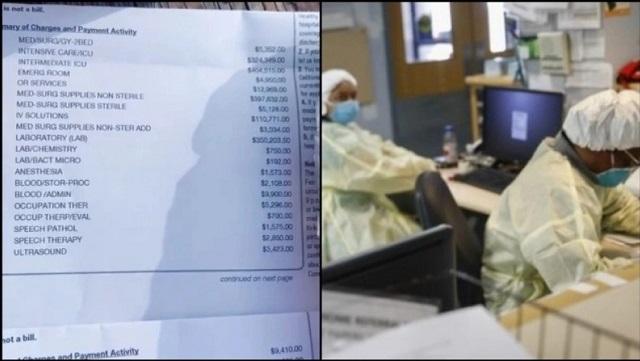 Aνάρτησε το εξωφρενικό κόστος νοσηλείας του για κορονοϊό & έγινε viral