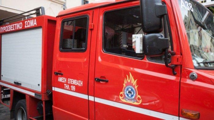 Φωτιές σε παλαιά Εθνική Λάρισας-Βόλου και σε αποθήκη ζωοτροφών