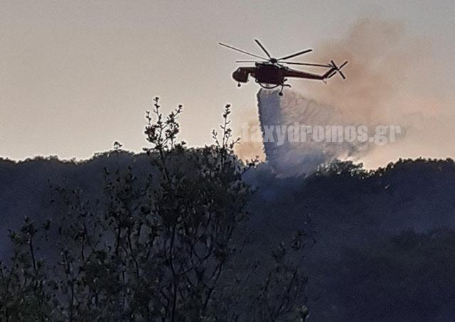Υπό έλεγχο η πυρκαγιά στη Βρύναινα – Σώθηκε το χωριό που απειλήθηκε από τις φλόγες