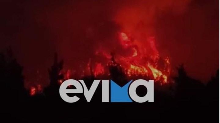"""Σε πύρινο """"κλοιό"""" η Εύβοια: Σε κατάσταση έκτακτης ανάγκης οι Δημοτικές Ενότητες Νηλέως και Κηρέως"""