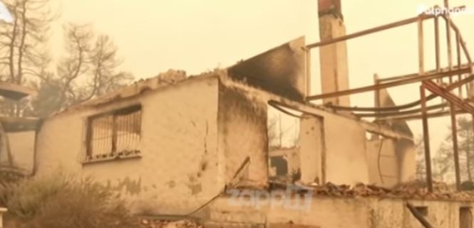 Κάηκε το σπίτι του Kώστα Χατζή στο Καστρί Ευβοίας