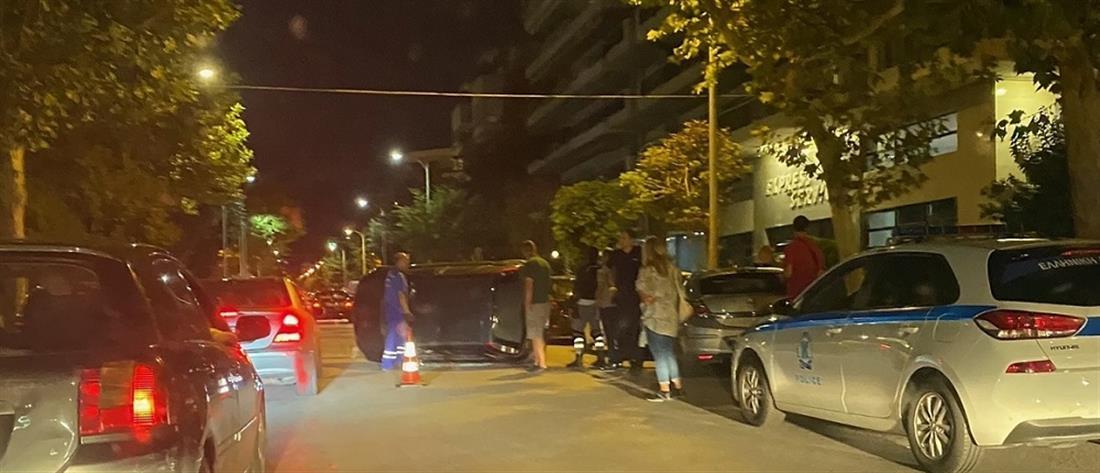 Θεσσαλονίκη: Τροχαίο σοκ με ανατροπή