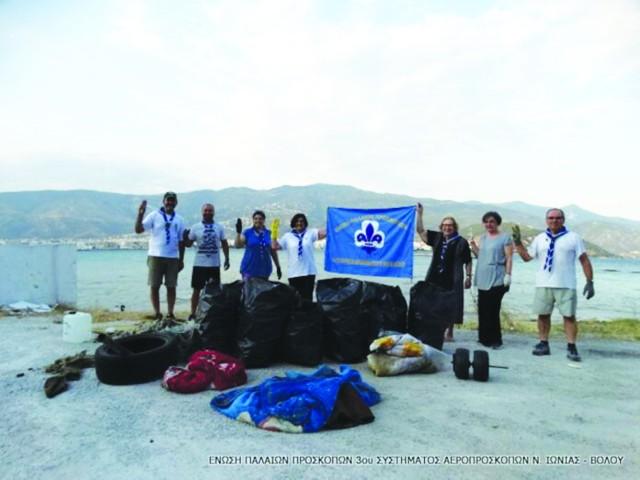 Εκστρατεία καθαριότητας στα Πευκάκια  από την Ενωση Παλαιών Προσκόπων