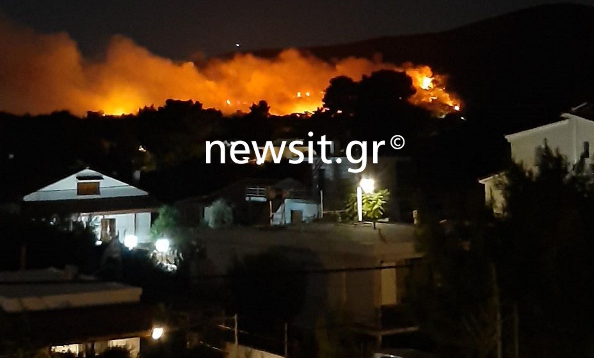 Φωτιά στη Νέα Μάκρη: Στις φλόγες Λιβίσι και Άγιος Εφραίμ – «Έχουν καεί σπίτια»