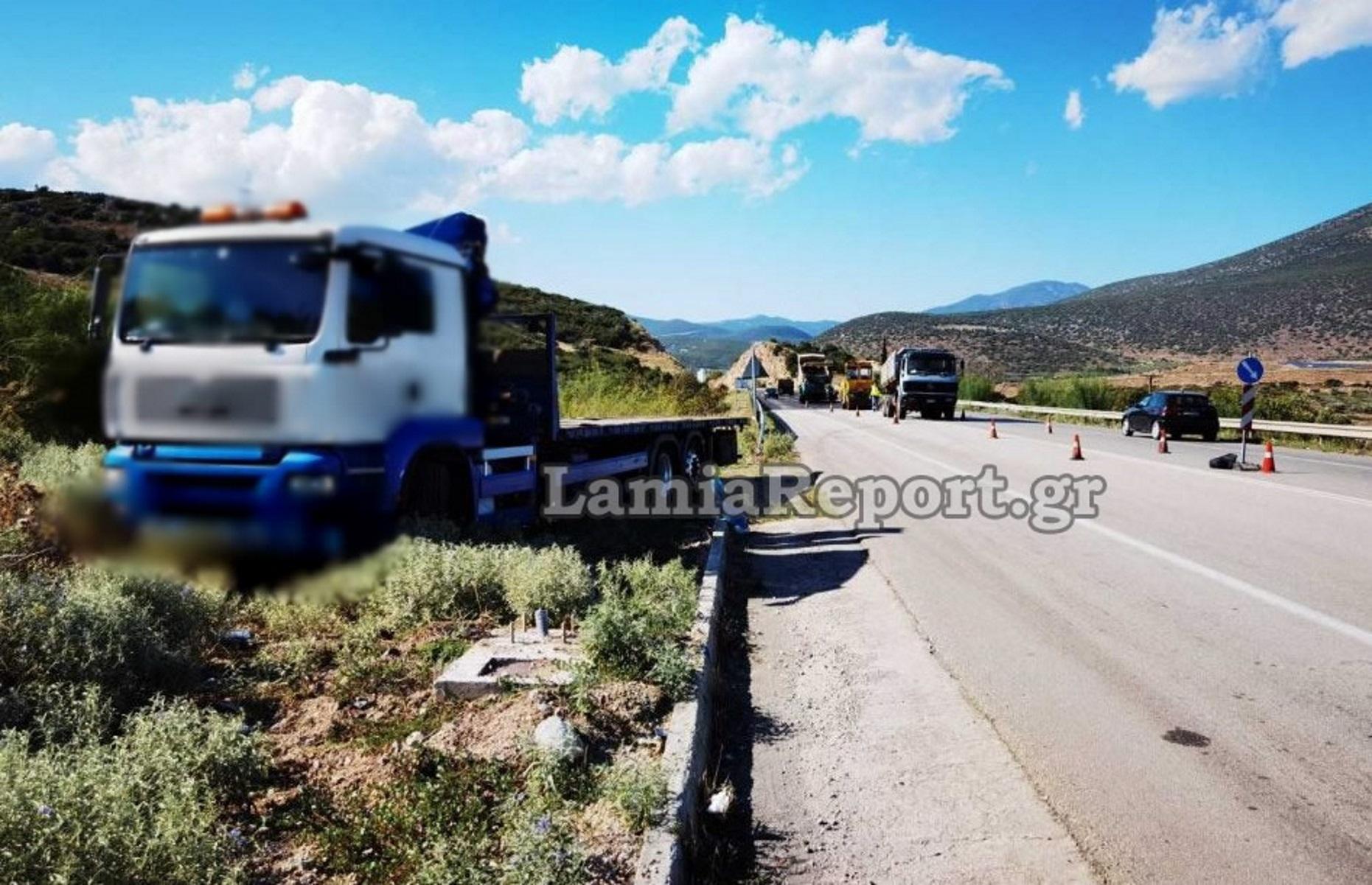 Φορτηγό παρέσυρε εργάτη οδοποιίας που έριχνε πίσσα στον δρόμο Λαμίας – Δομοκού