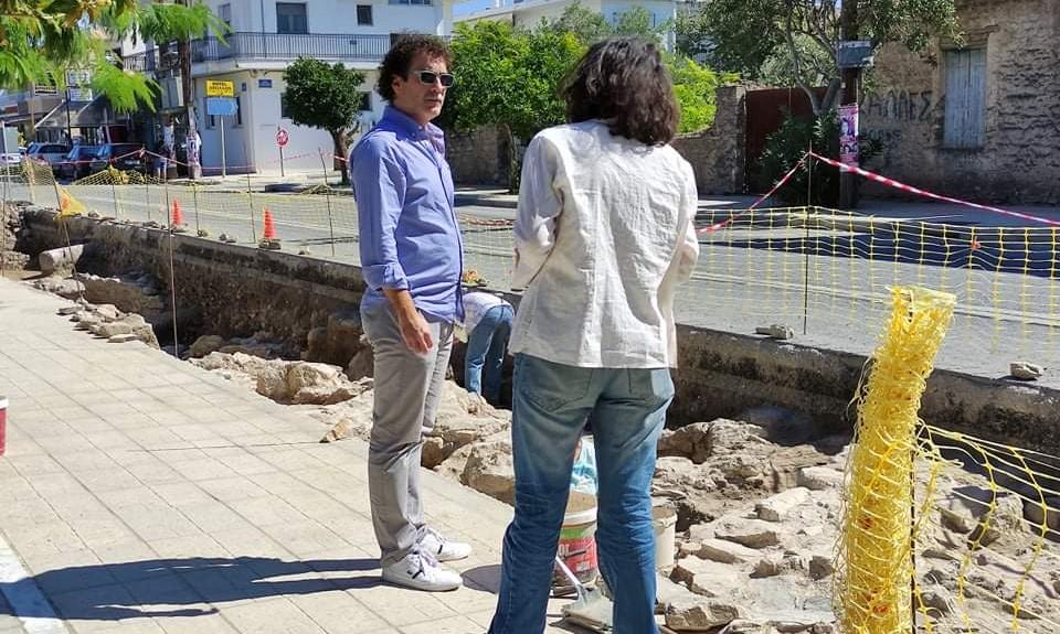 """Κοπάνας: Ζήτησε επίσπευση των εργασιών της αρχαιολογίας στη Νέα Αγχίαλο επί της οδού """"Ελευθερίας"""""""