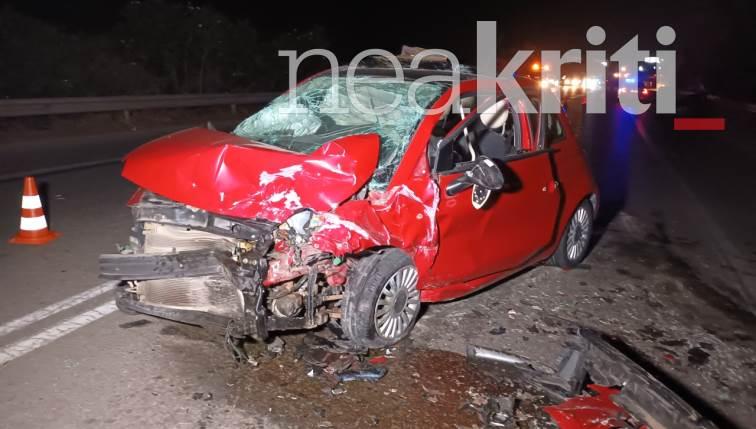 Χανιά: Θανατηφόρο τροχαίο με δύο νεκρούς και πέντε τραυματίες
