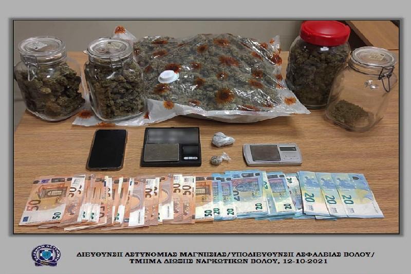 Συνελήφθησαν δύο ημεδαποί στον Βόλο για ναρκωτικά