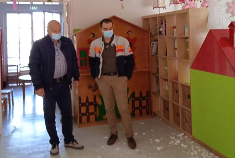 Κατέρρευσε τμήμα της οροφής στο 2ο παιδικό σταθμό Τρικκαίων