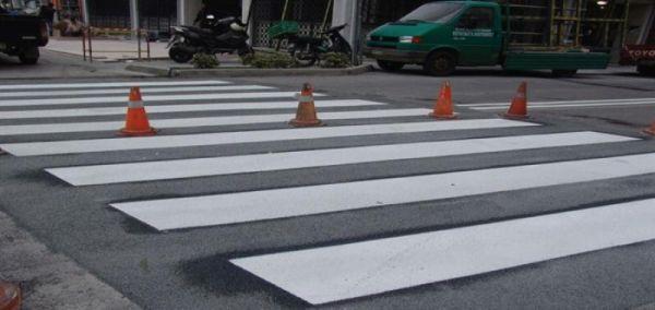 Διαγράμμιση οδικού δικτύου της Π.Ε. Τρικάλων