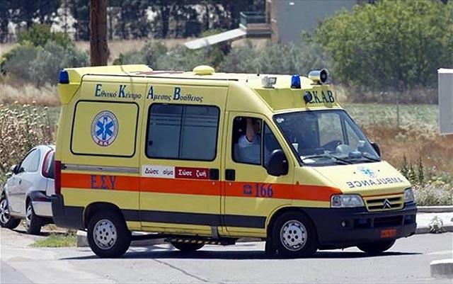 Διακομιδή 60χρονης διασωληνωμένης από τον Βόλο στην Χαλκίδα