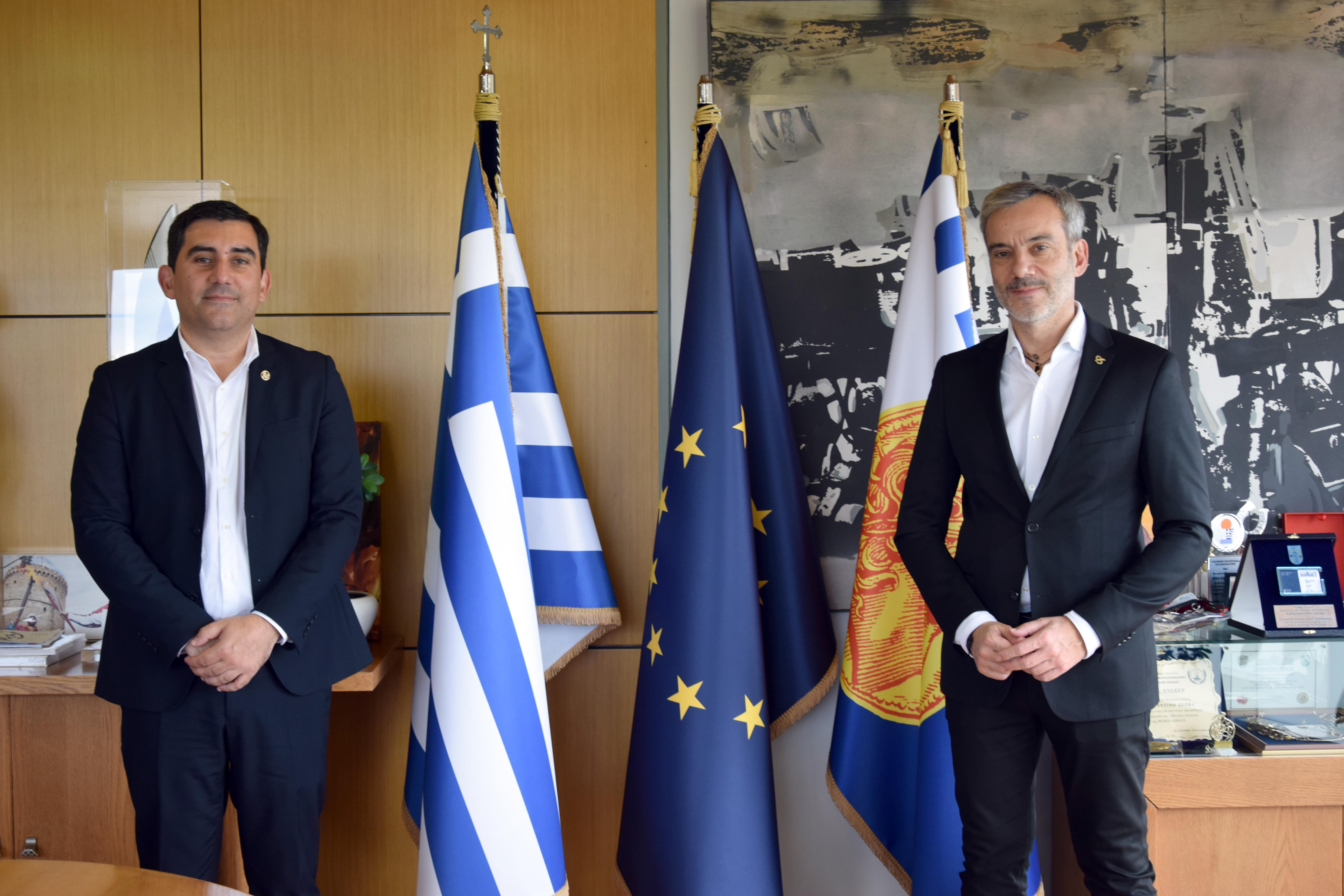 Συναντήθηκε με τον Δήμαρχο Θεσσαλονίκης ο Θοδωρής Τζούμας