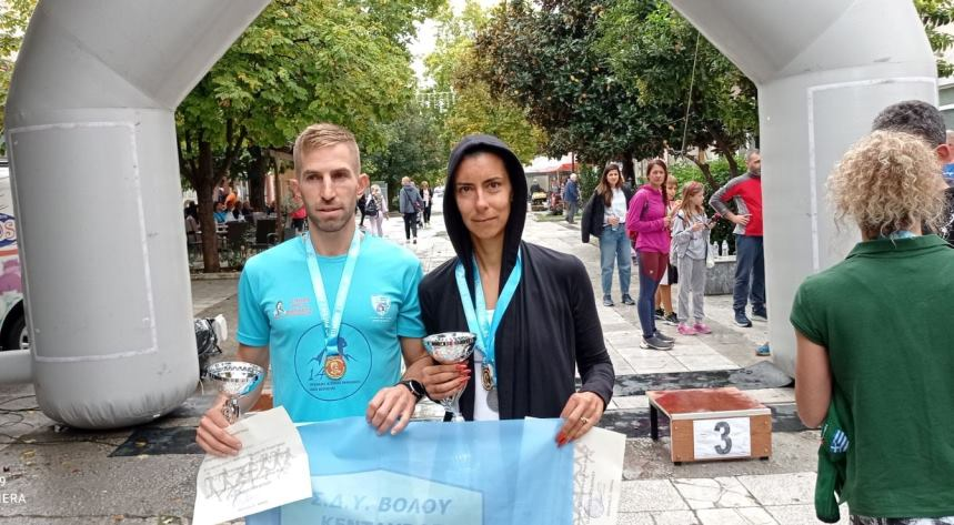 Νίκη Μουλά και Δημήτρης Φράγκος οι νικητές στον 20ο Ρήγειο Δρόμο