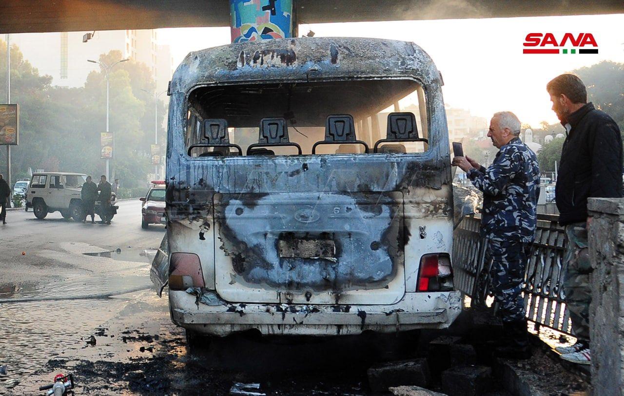Έκρηξη σε λεωφορείο στην Δαμασκό