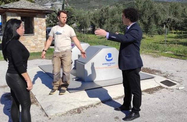 Υπόγειοι κάδοι στα χωριά δόθηκαν προς χρήση