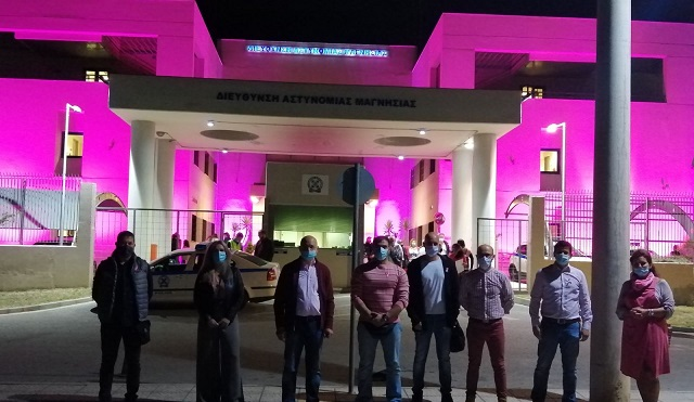 Θα φωταγωγηθεί ροζ το Αστυνομικό Μεγάρο για τον καρκίνο του μαστού