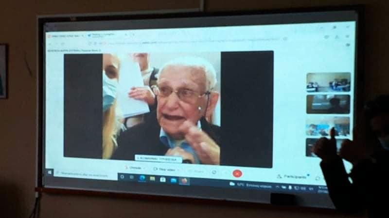 Σε μαθητές του ΓΕΛ Αγριάς μίλησε ο 105 χρονος Δημ. Κάλμπαρης