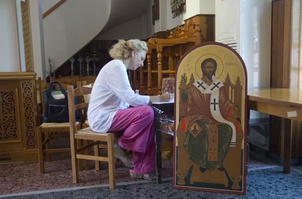 Αποκατάσταση της εικόνας του Αγίου Ρηγίνου