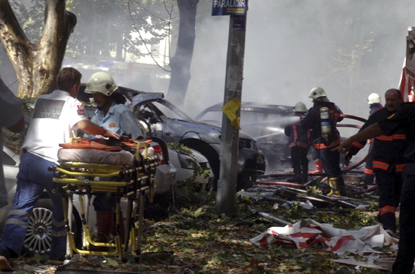 Εκρηξη βόμβας στο κέντρο της Αγκυρας