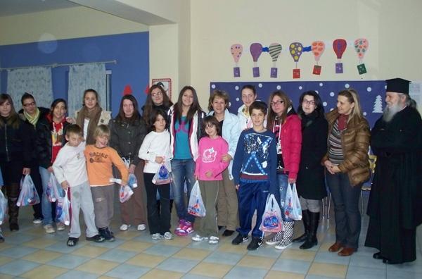 Γνωριμία με τα παιδιά στο Ορφανοτροφείο Βόλου